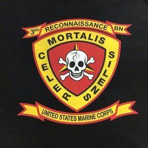 Other - Black Tee Shirt Sz L 3rd Reconnaissance BN Marine